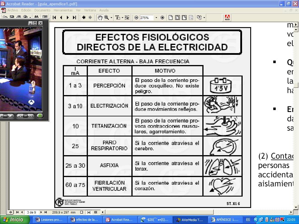 'La Corriente El�ctrica y los humanos'