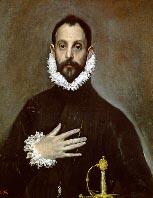 'El Caballero de la Mano en el Pecho; El Greco'