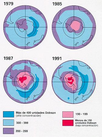 'Destrucci�n y regeneraci�n de la capa de ozono'