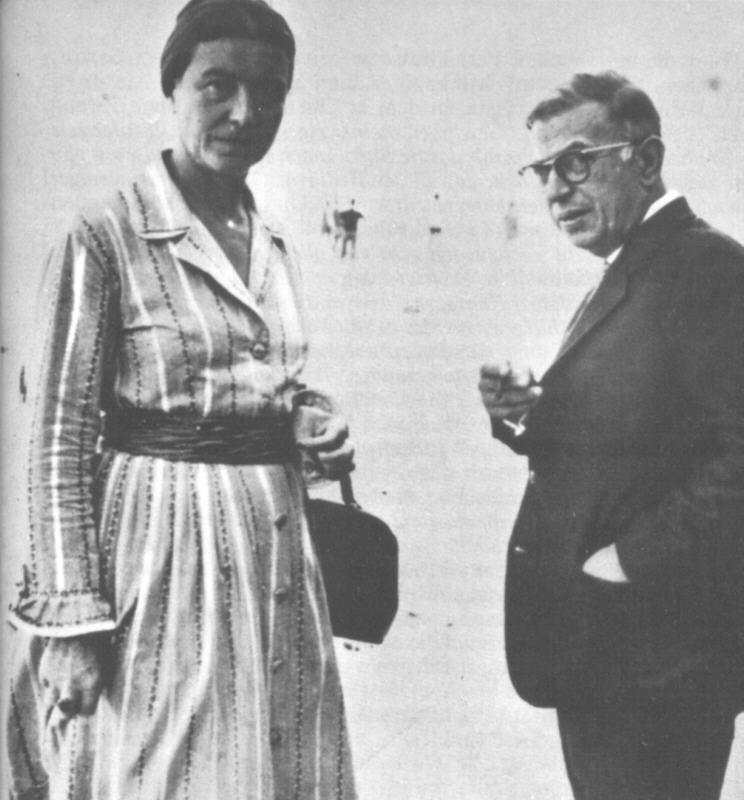 'Simone de Beauvoir y Jean Paul Sartre'