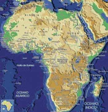 'Geografía física de África'