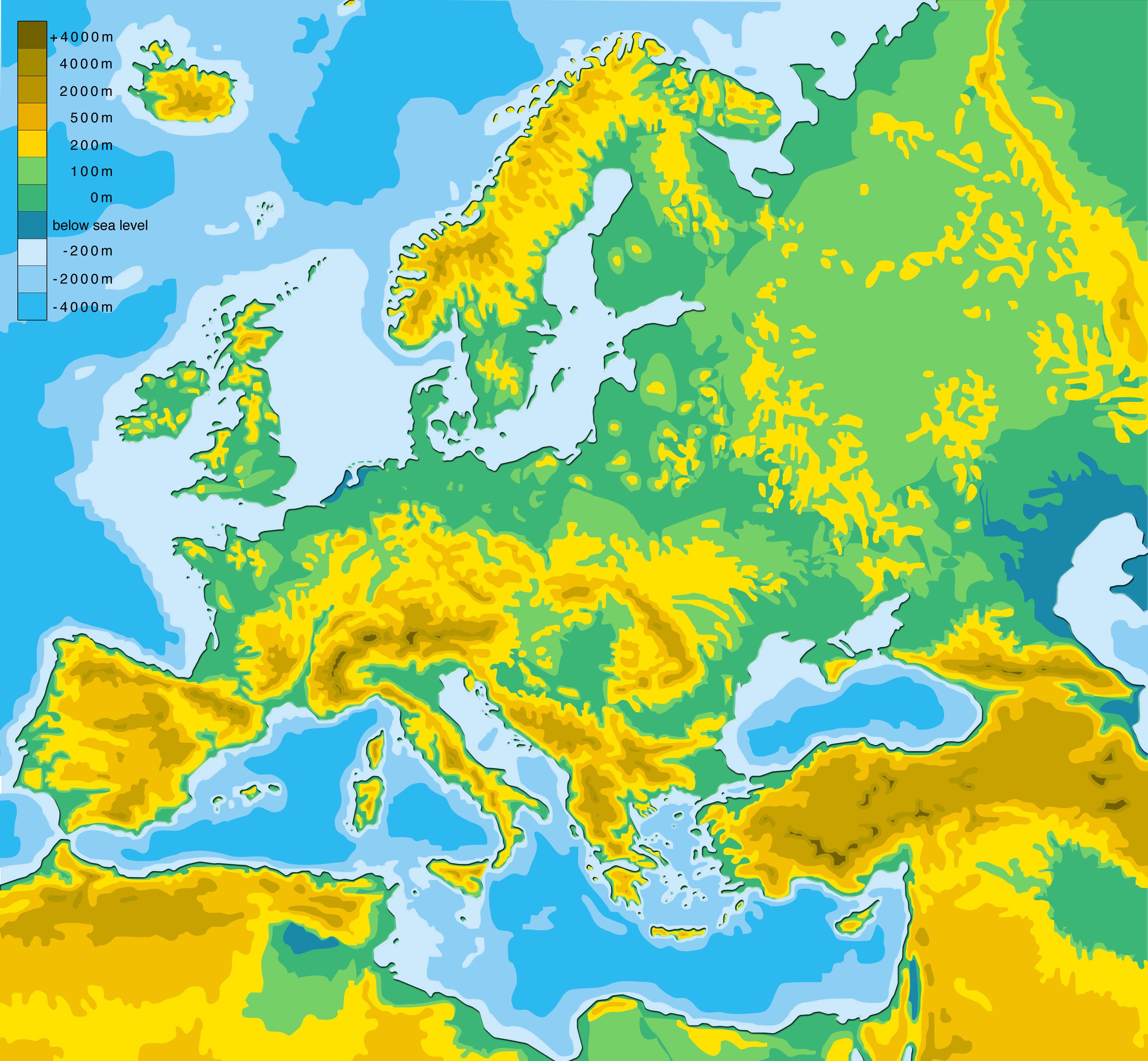 'Geografía física y política de Eurasia'