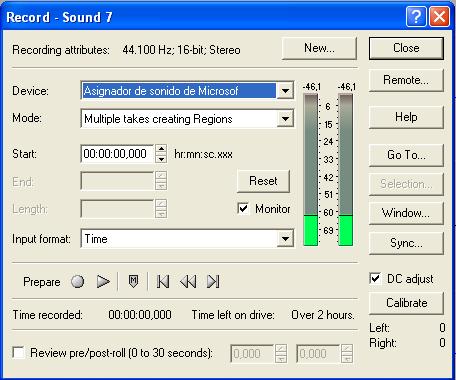 'Edición digital con Sound Forge'
