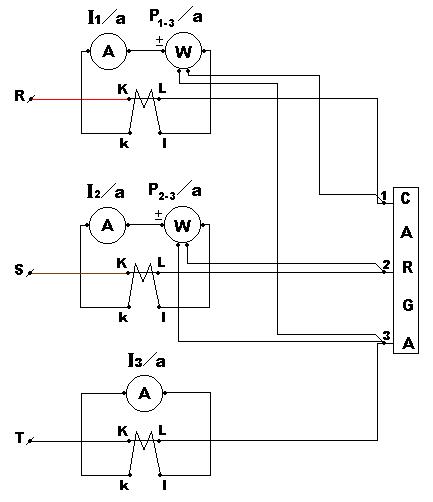 Medición de la potencia activa trifásica con el método de dos vatímetros