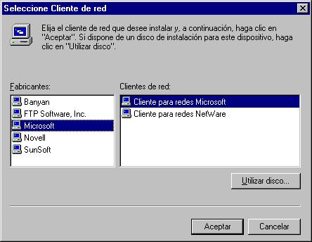 Redes en Microsoft Windows 95 y Windows 98