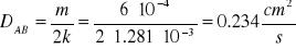 'Coeficientes de difusión molecular'