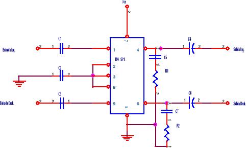 Amplificador con TDA1521