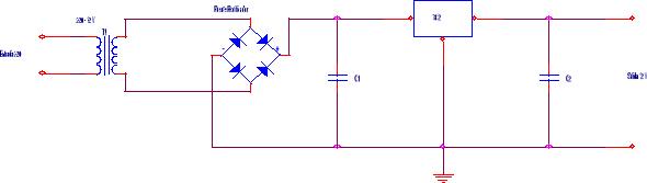 Fuente de alimentación con circuito integrado