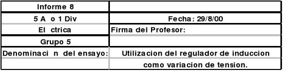 Utilización del regulador de inducción como variación de tensión
