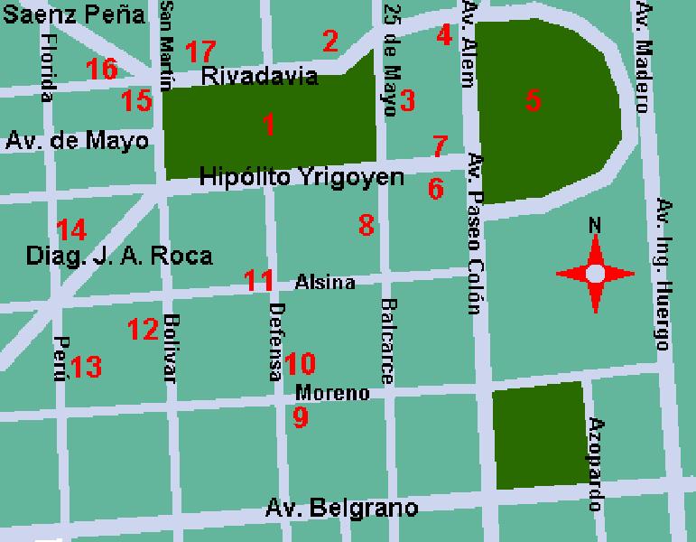 Plaza de Mayo. Manzana de las luces