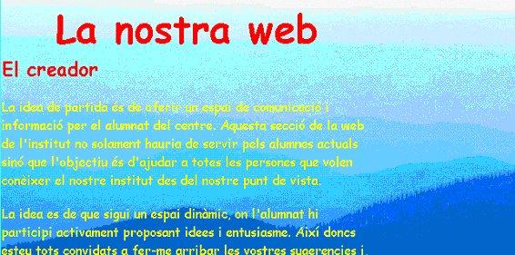 'Creación de una página web'