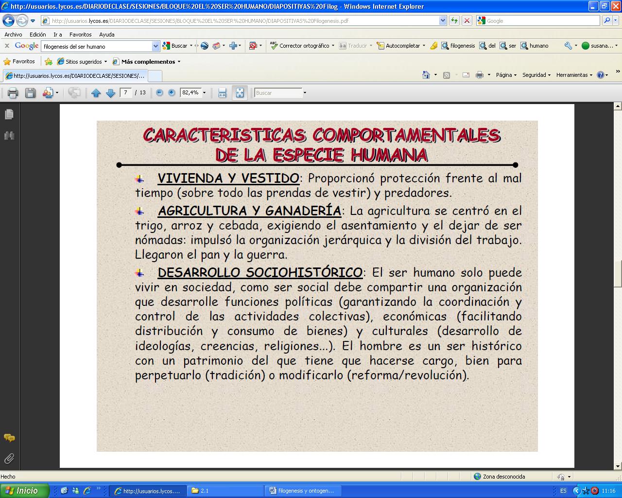 'Filog�nesis humana'