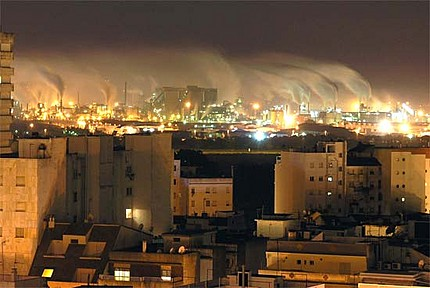 'Contaminación atmosférica en Huelva'
