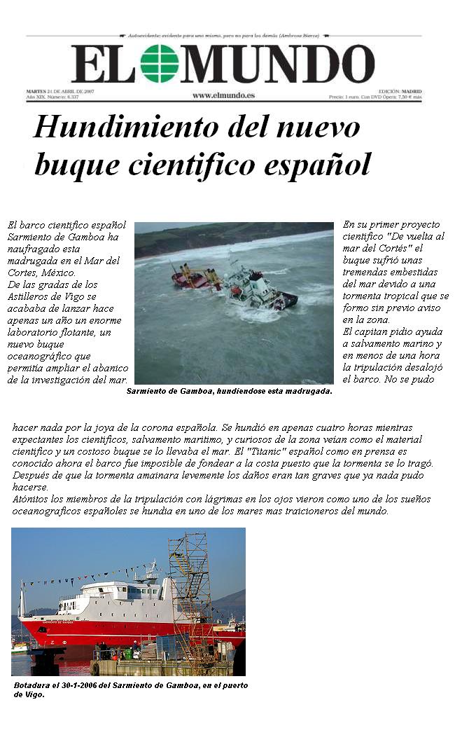 'Rescate del buque Sarmiento de Gamboa'