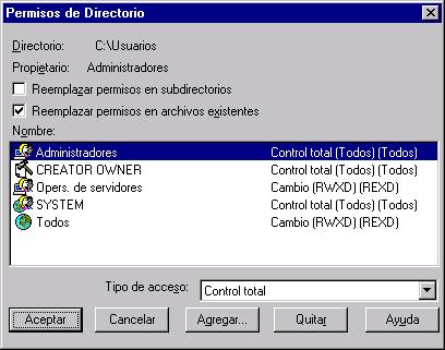 Problemas de seguridad en Microsoft Windows NT 4.0