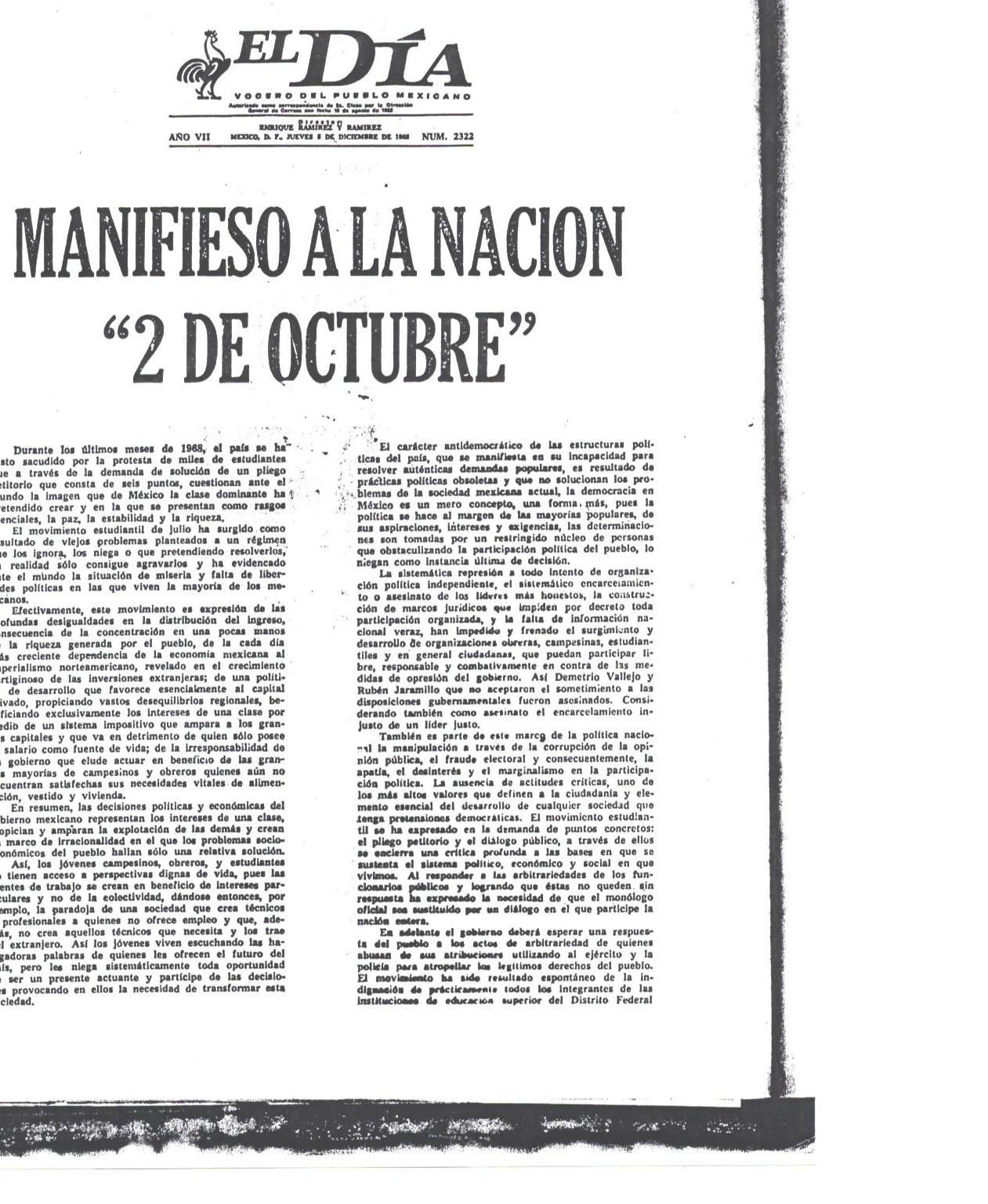 'El movimieto estudiantil del 68'