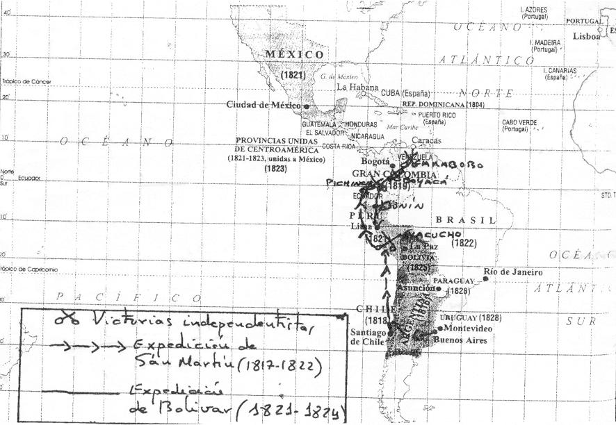 Relaciones España y América durante los siglos XV, XVI, XVII y XVIII