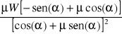 Coeficiente de fricción en el valor de la fuerza motriz