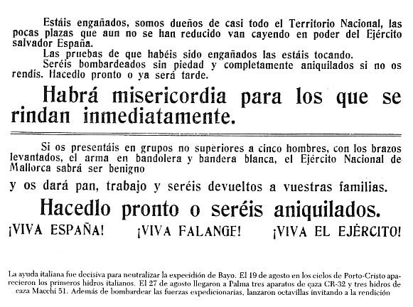 'La operaci� de Bayo a Mallorca'