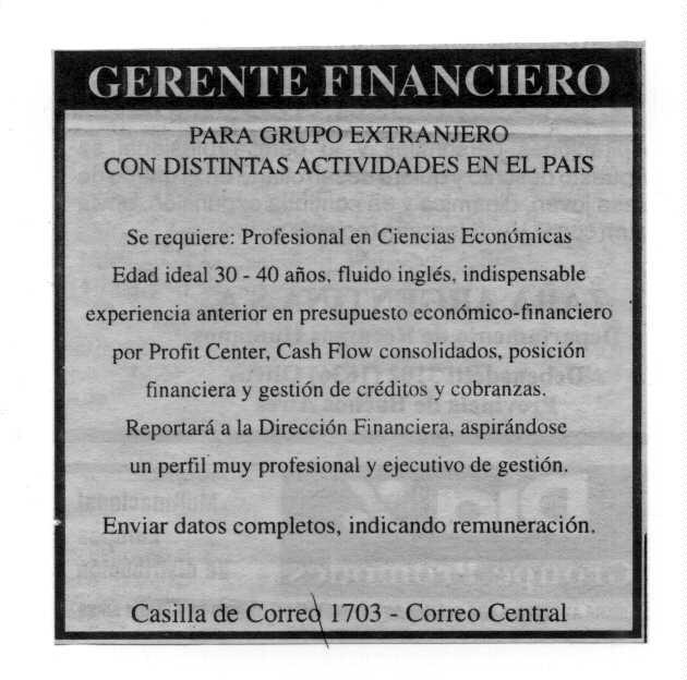 El papel de la Gerencia financiera