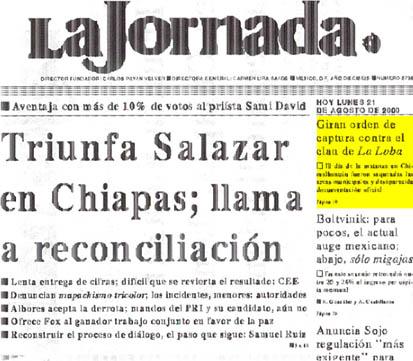 Titular de dos diarios mexicanos sobre elecciones en Chiapas
