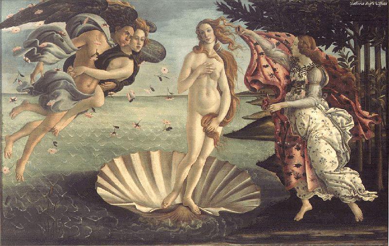 'El nacimiento de Venus; Sandro Botticelli'