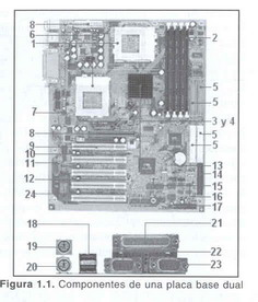 'Placa base de un ordenador'