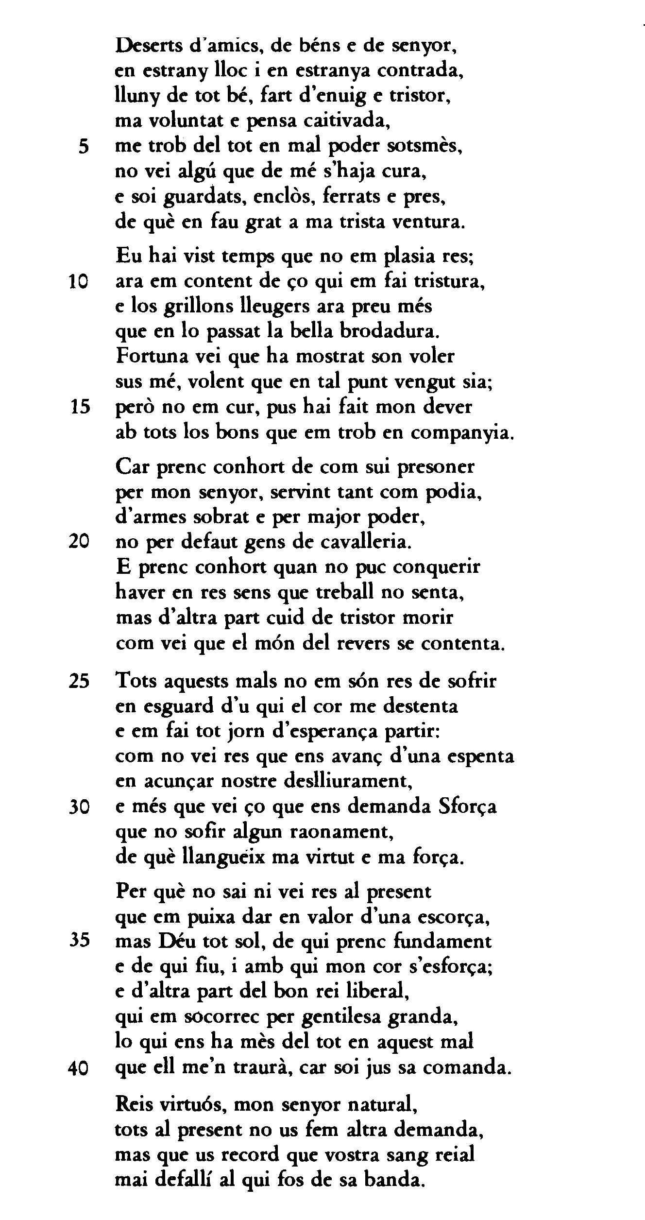 Presoner; Jordi de Sant Jordi
