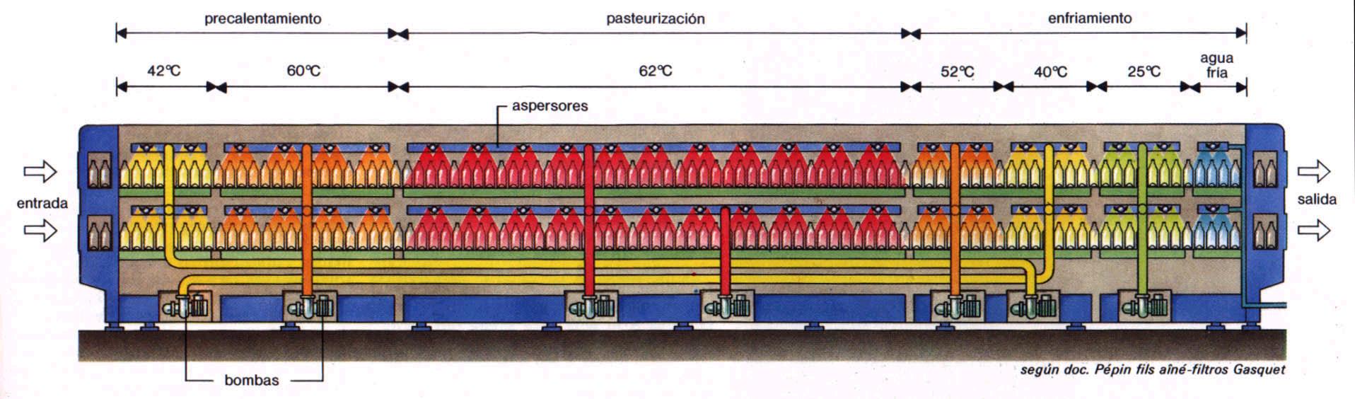 Leche pasteurizada: Pasteurización