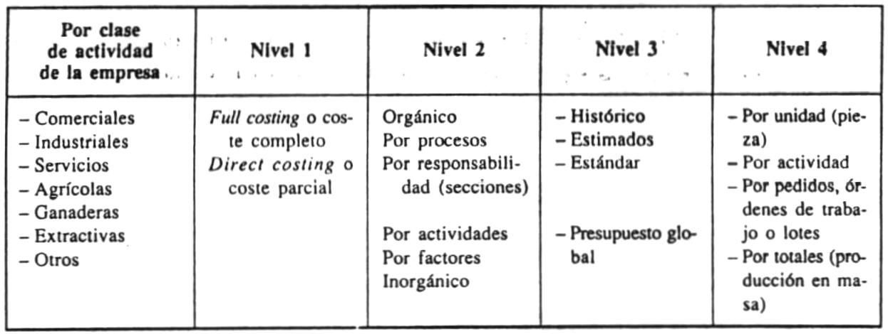 Análisis y clasificación de costes