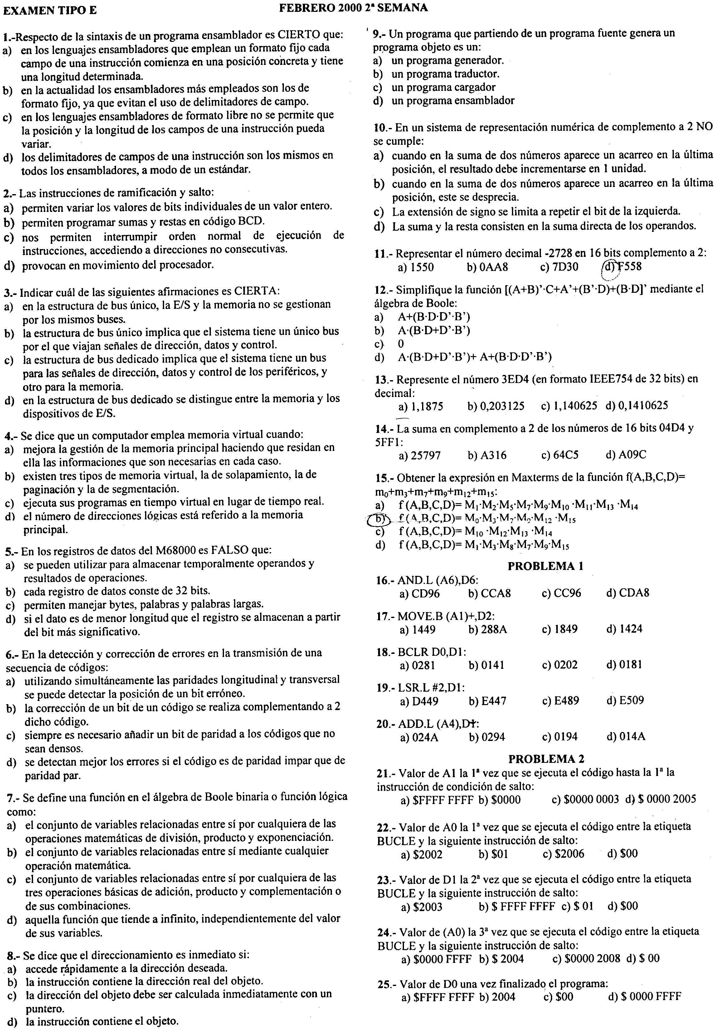 Estructura y Tecnología de los Computadores