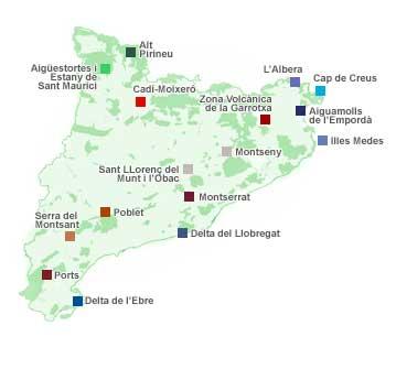'Parcs Naturals a Catalunya # Parques Naturales en Cataluña'