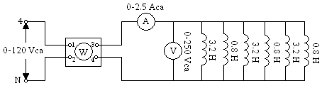 'Circuito resistivo, inductivo y capacitivo de corriente alterna'