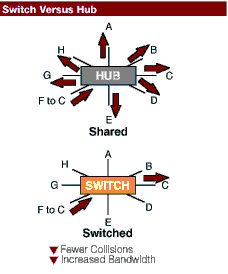 'Hubs y Switches'