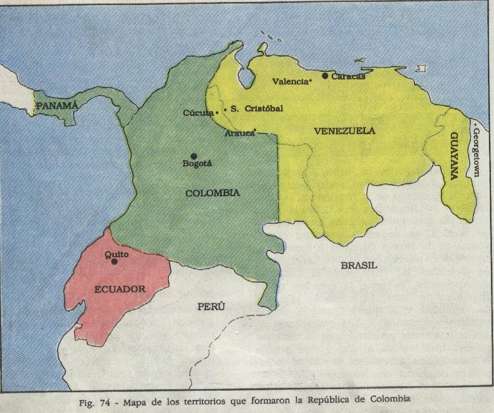 'Creación y disolución de la Gran Colombia'